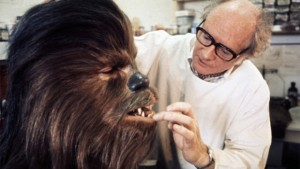 Stuart Freeborn with Chewbacca