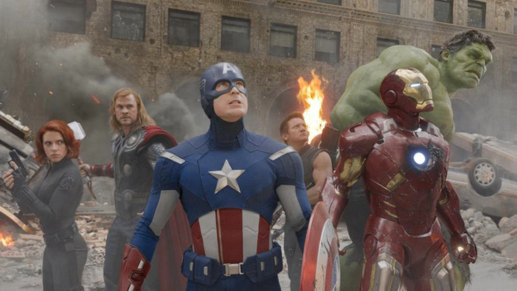 The Avengers group shot in New York