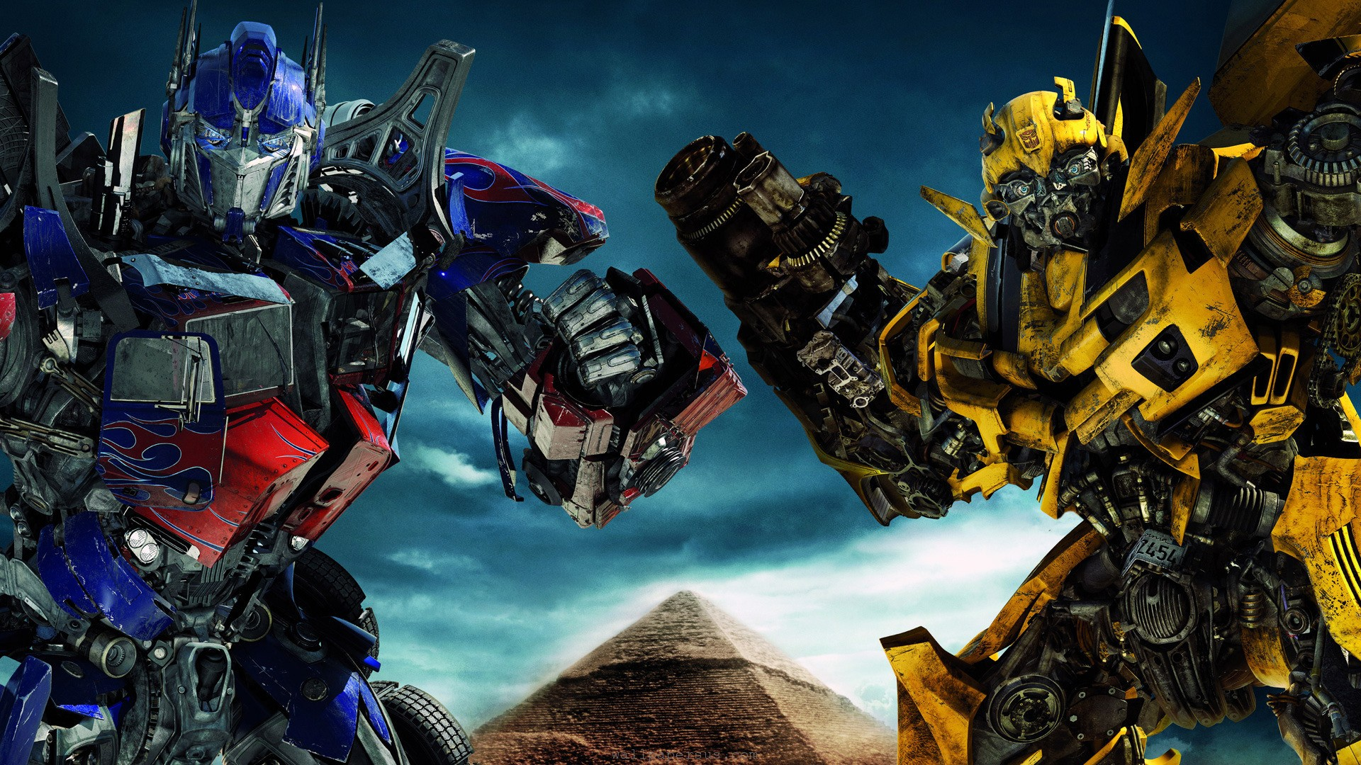 The Gallery For Gt Transformers Optimus Prime And Bumblebee