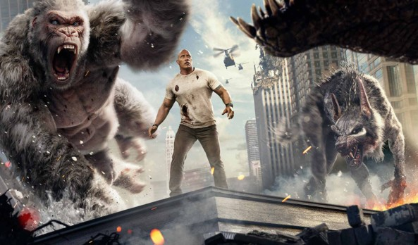 Movie Review: No high score for 'Rampage' if George isn't furious