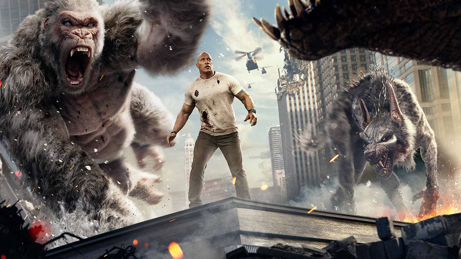 Movie Review No High Score For Rampage If George Isn T Furious